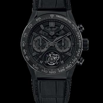 TAG HEUER CARRERA Calibre HEUER 02 T – COSC – Хронограф Черный титан Phantom Ограниченная серия 45 мм