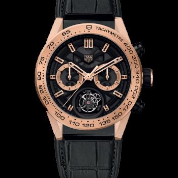 TAG HEUER CARRERA Calibre HEUER 02 T – COSC – Хронограф Титан и ушки/безель из розового золота 18K (5N) 45 мм