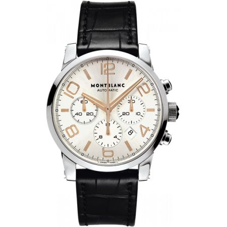montblanc-timewalker-automatic-silver-dial-numbers-golden-red-needles-and-43-mm-101549