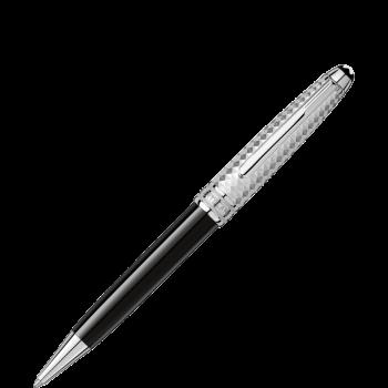 Шариковая ручка Meisterstück Solitaire Doué Geometric Dimension Platinum Classique