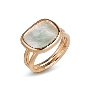 RING MOTHER-OF-PEARL BLACK JADE