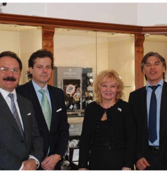 Визит генерального директора компании Luxury Products International Жерома Биара в Сочи и презентация часовой марки Perrelet в салоне Имидж